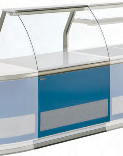Extension counter VE-90 MC with curved front glass