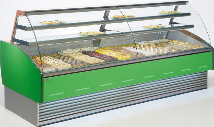 Vitrine VFE-P pastry display case curved glass